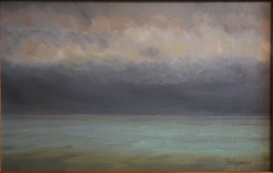 """Original Oil Painting """"Sky and Water"""""""