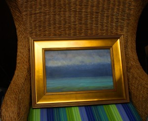 """""""Sky and Water"""" matched with a chair at Design Essence"""