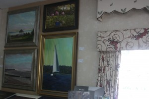 Oil Painting Display at Cottage Whimsey