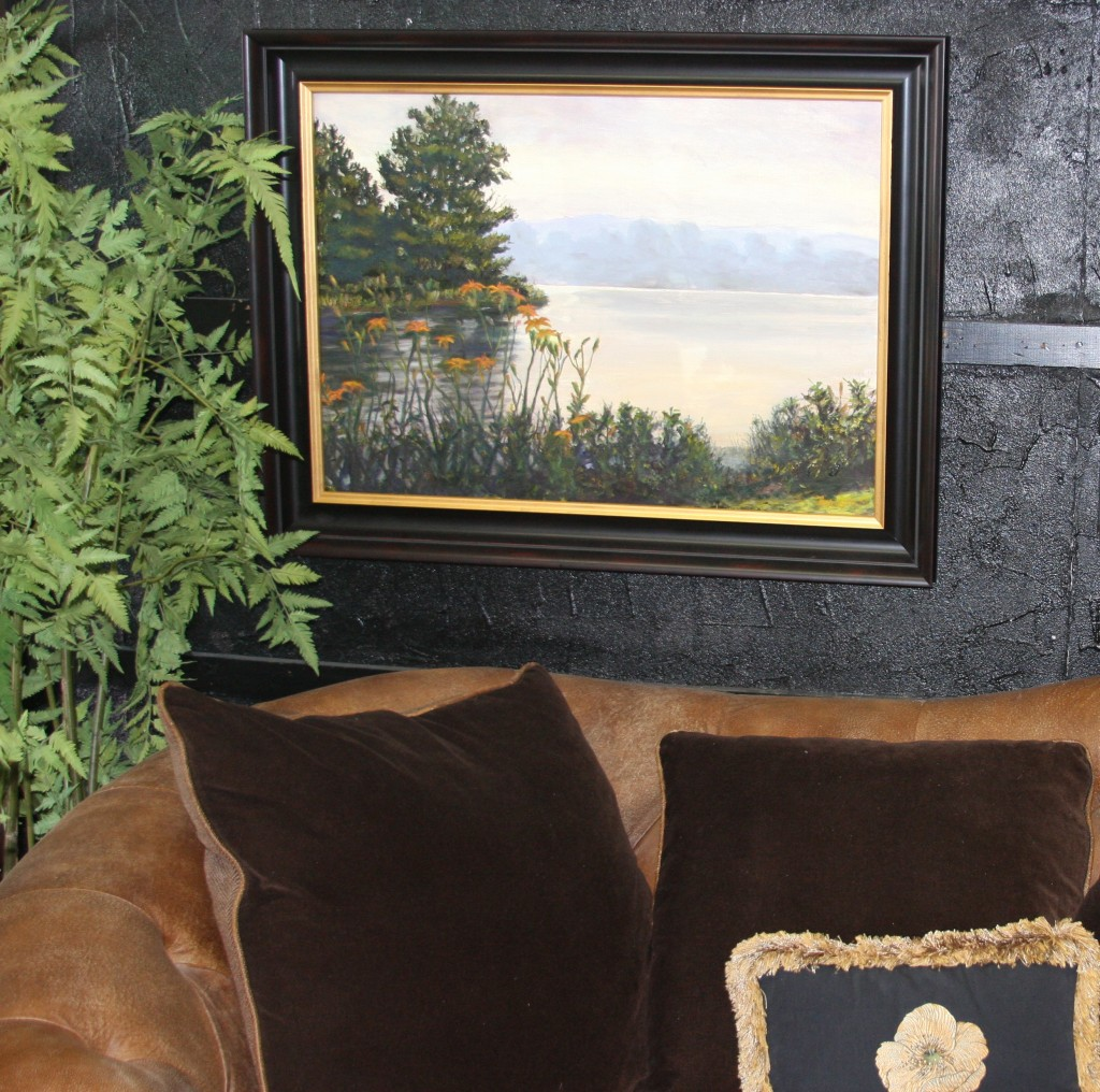 """""""Lilies on the River"""" on display at Design Essence, Inc."""