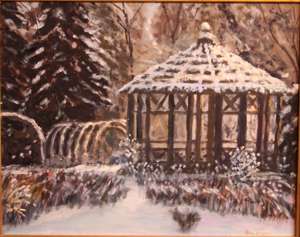 "Oil Painting ""Winter Wonderland, Elizabeth Park"" by Daniel S. Dahlstrom, Artist"
