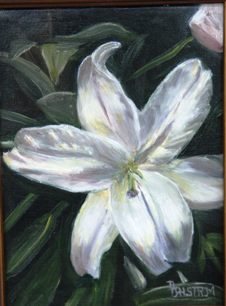 """White Lily""  Fine Art Oil Painting by Daniel S. Dahlstrom, Chester, CT Artist"