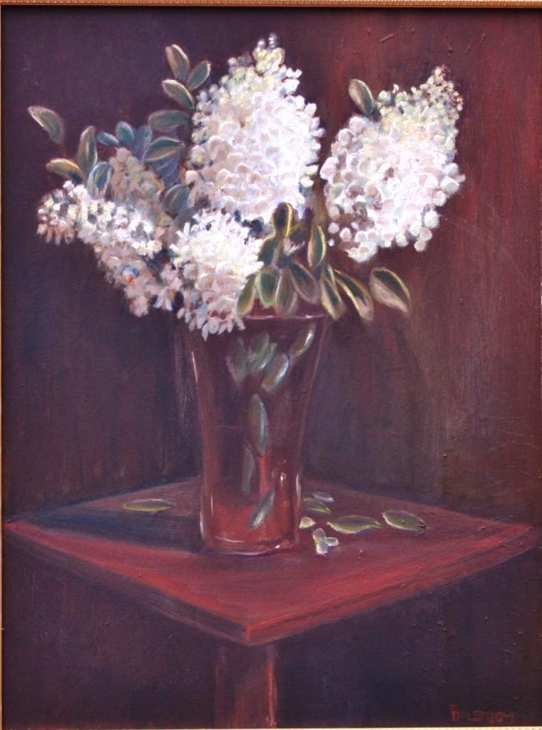 """White Hydrangeas from Garden"" Fine Art Oil Painting by Daniel S. Dahlstrom"