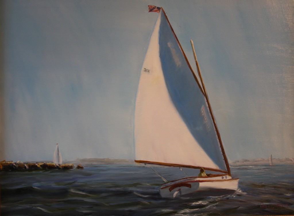 """Discovery"" Oil Painting by Daniel S. Dahlstrom, Chester, CT Artist"
