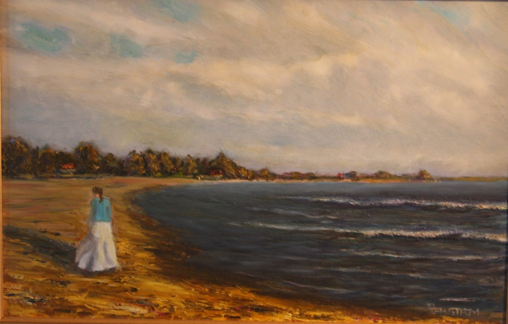 """""""Summer Stroll by the Sea""""  Fine Art Oil Painting by Daniel S. Dahlstrom"""