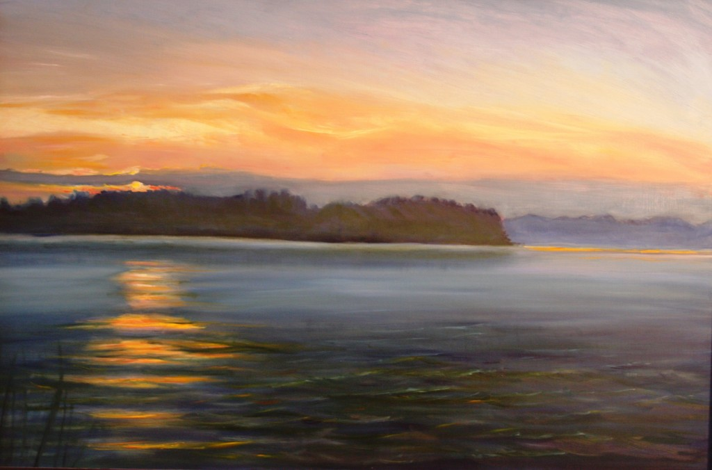 "Fine Art Oil Painting ""End of Day"" (Old Saybrook, Connecticut)"