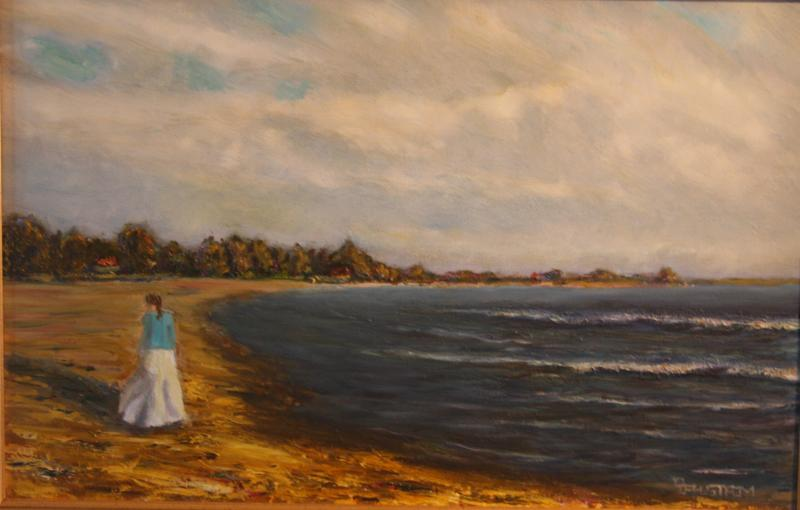 """Summer Stroll by the Sea"""