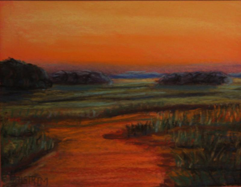 """Sunset"" (a pastel painting)"