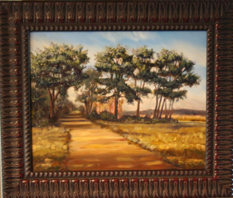 "Fine Art Oil Painting ""Path at Great Meadows"""