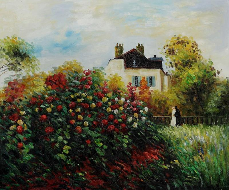 The Artist's Garden--Claude Monet