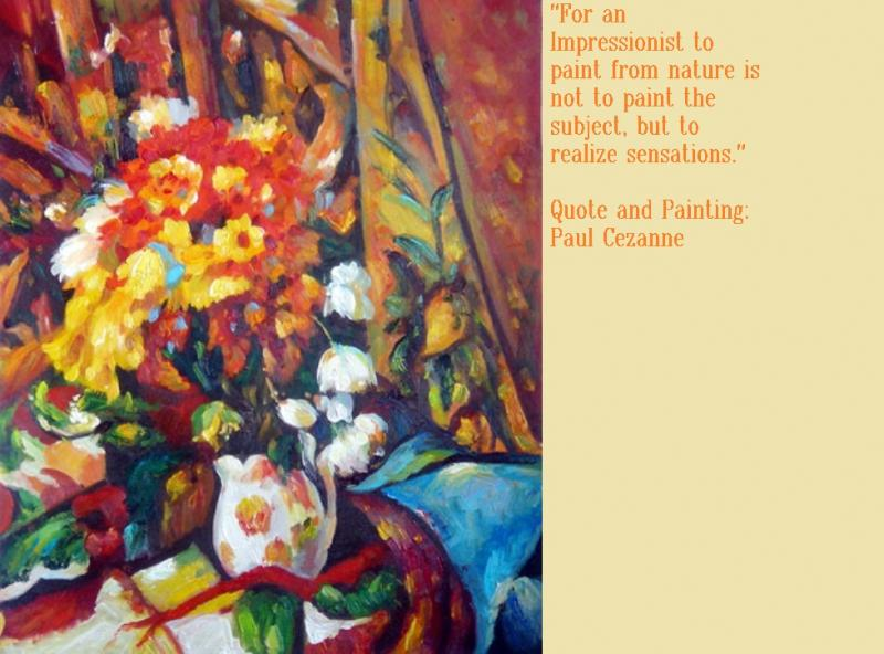Paul Cezanne Quote and Painting