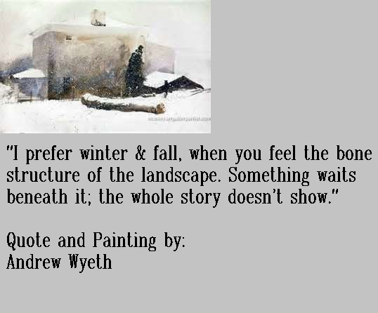 Quote & Painting by Andrew Wyeth