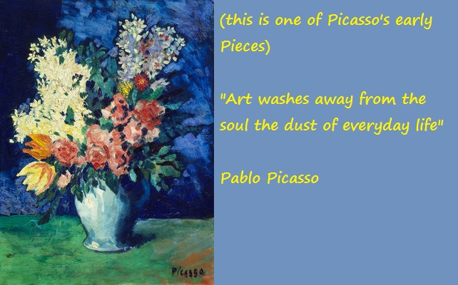 Picasso Painting and Quote