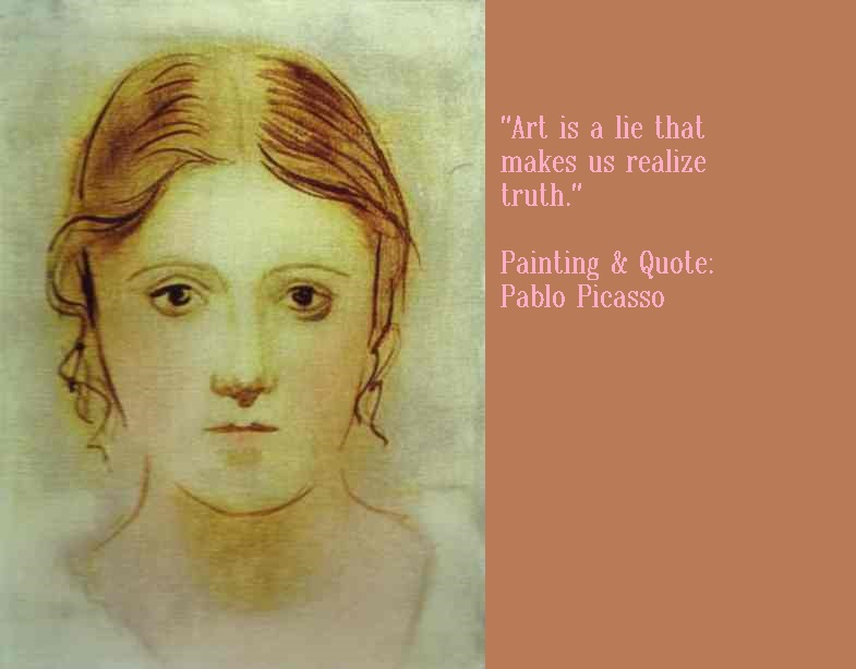 Quote and Painting by Pablo Picasso