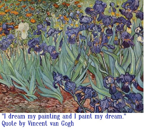 Quote and Painting by van Gogh